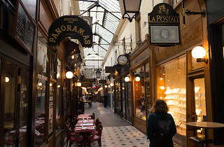 Inside the Passage des Panoramas covered passage in Paris