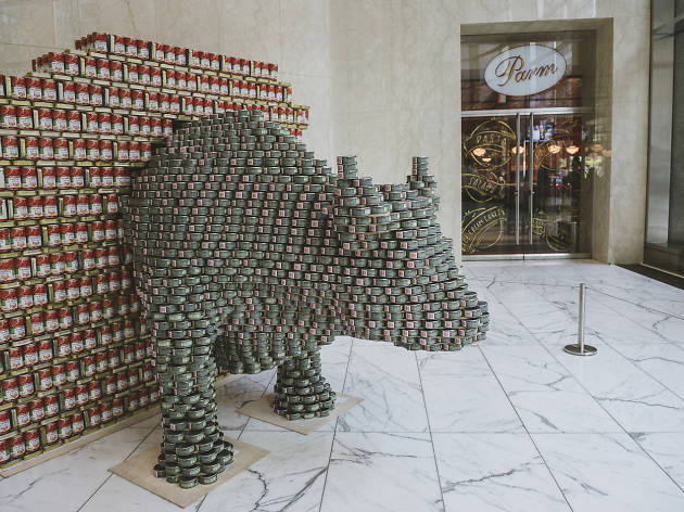 Canstruction New York at Brookfield Place