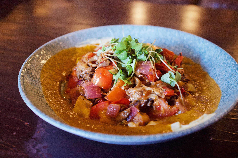 Best Disneyland food vegetarian Lamplight Lounge California Adventure