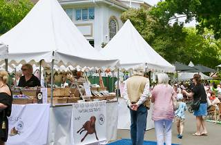 People looking at the stalls of Plumer Road Village Fair in Rose Bay