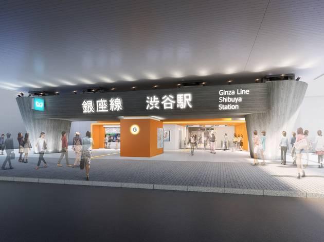 銀座線渋谷駅の新デザインが発表、移設工事期間中は折返し運転を実施