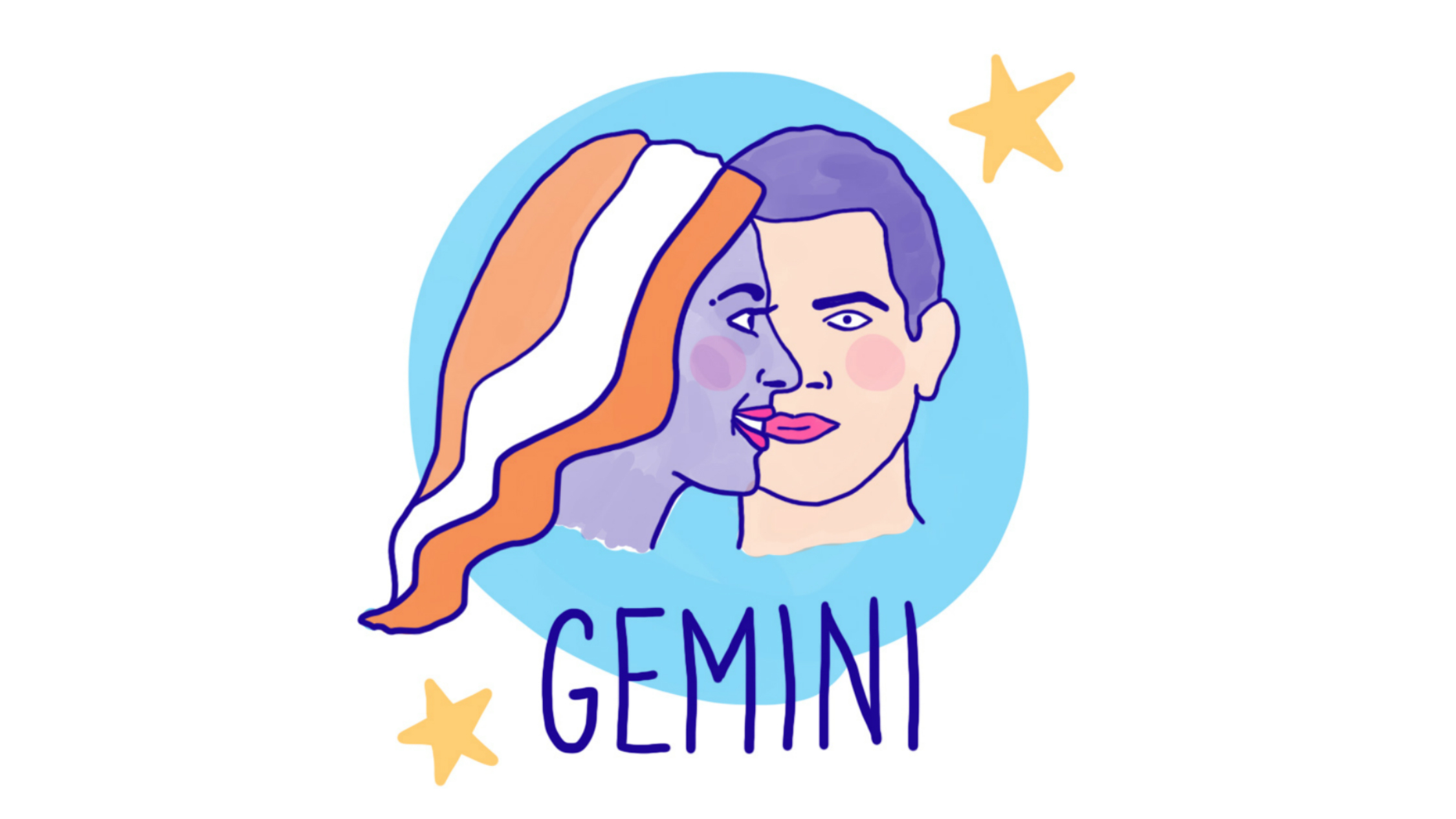 Gemini astrological illustration