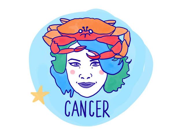 Cancer astrological illustration