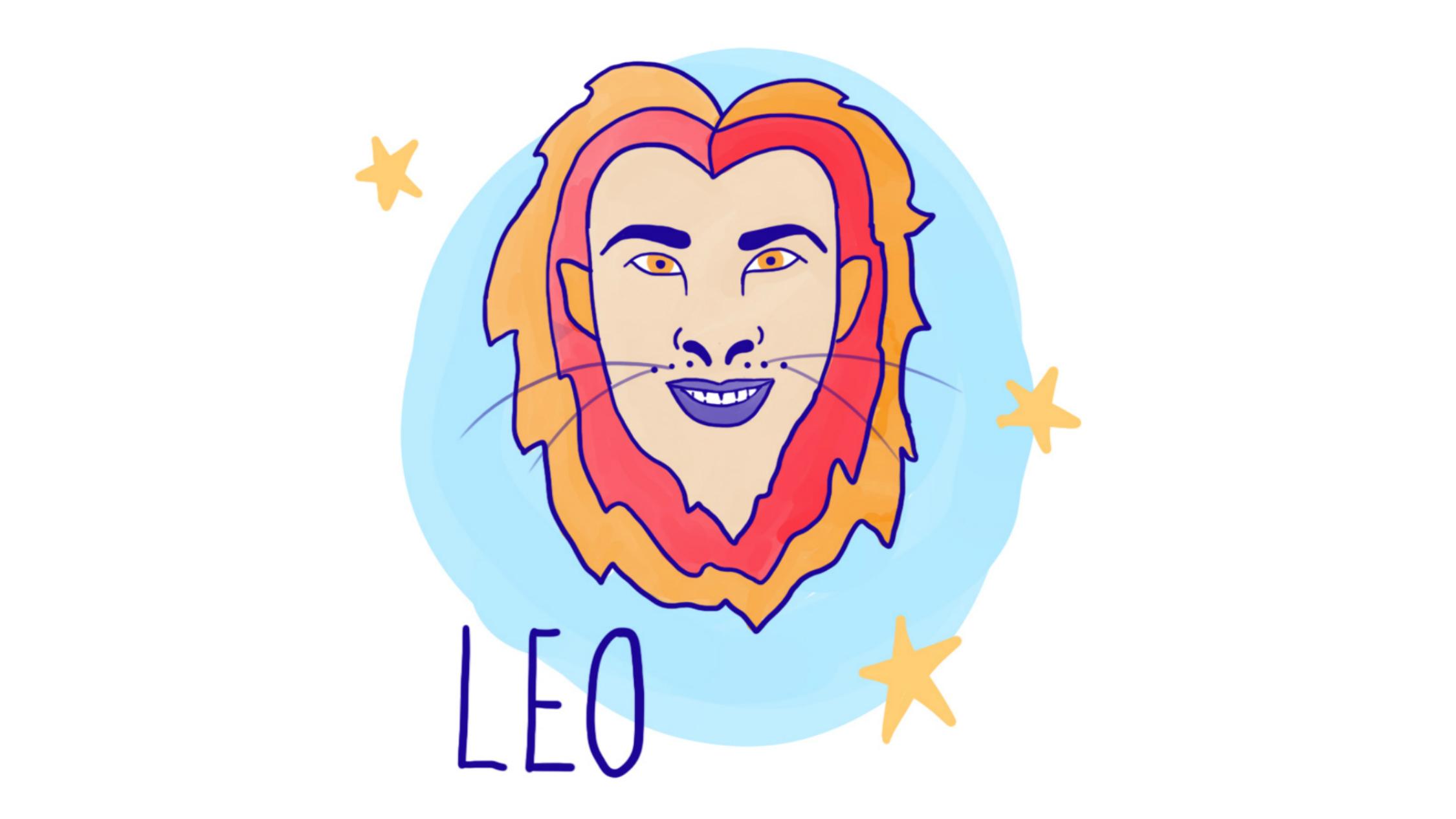 Leo astrological illustration