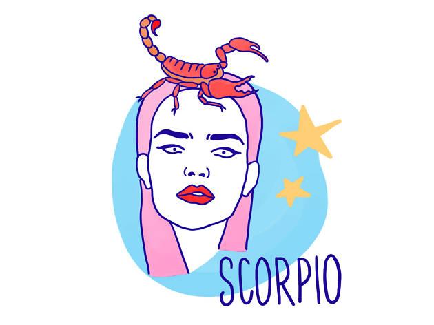 Scorpio astrological illustration