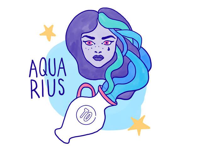 Aquarius astrological illustrations