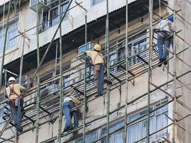 Hong Kong's bamboo scaffolding