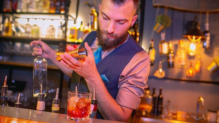 Cocktails at Three Monkeys Bar