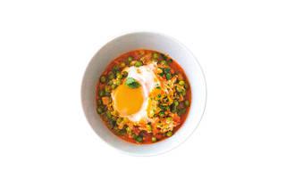 Café Lapo - Ervilhas com Ovos Escalfados