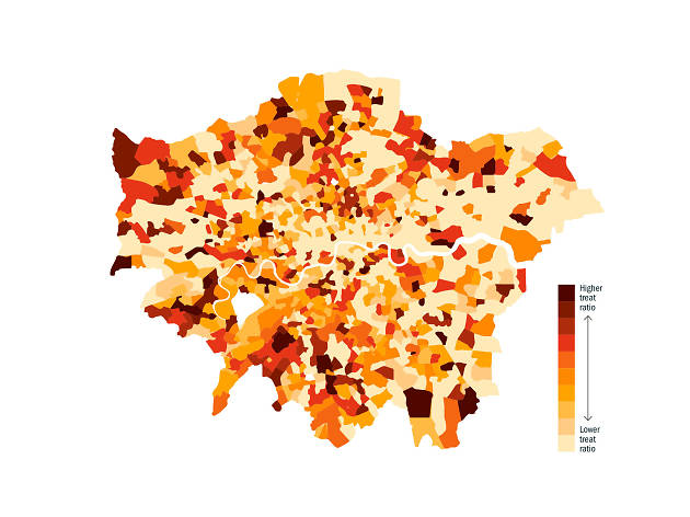 This map reveals London's most generous neighbourhoods for trick-or-treaters