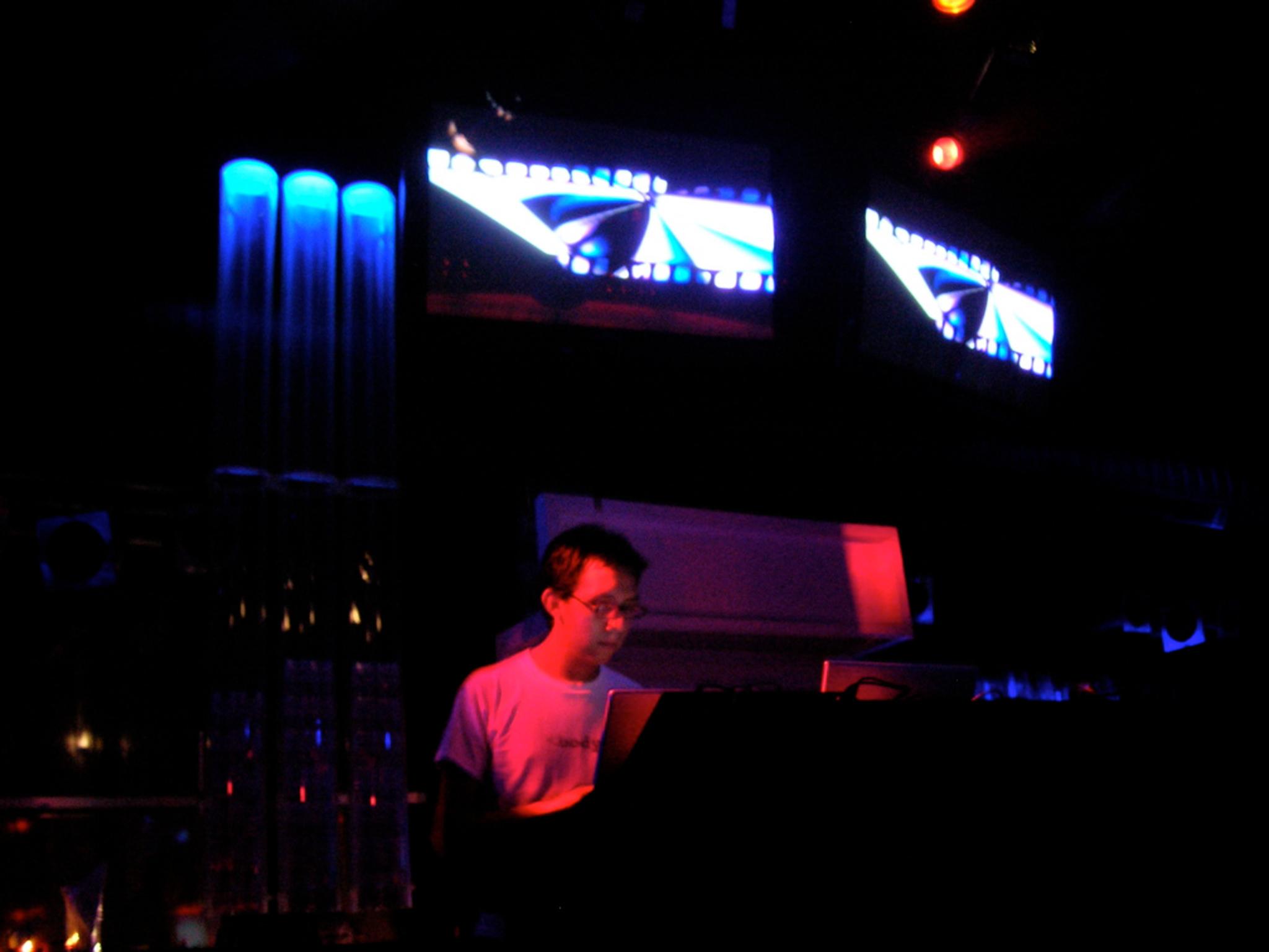 A DJ at Mecca Club in Prague