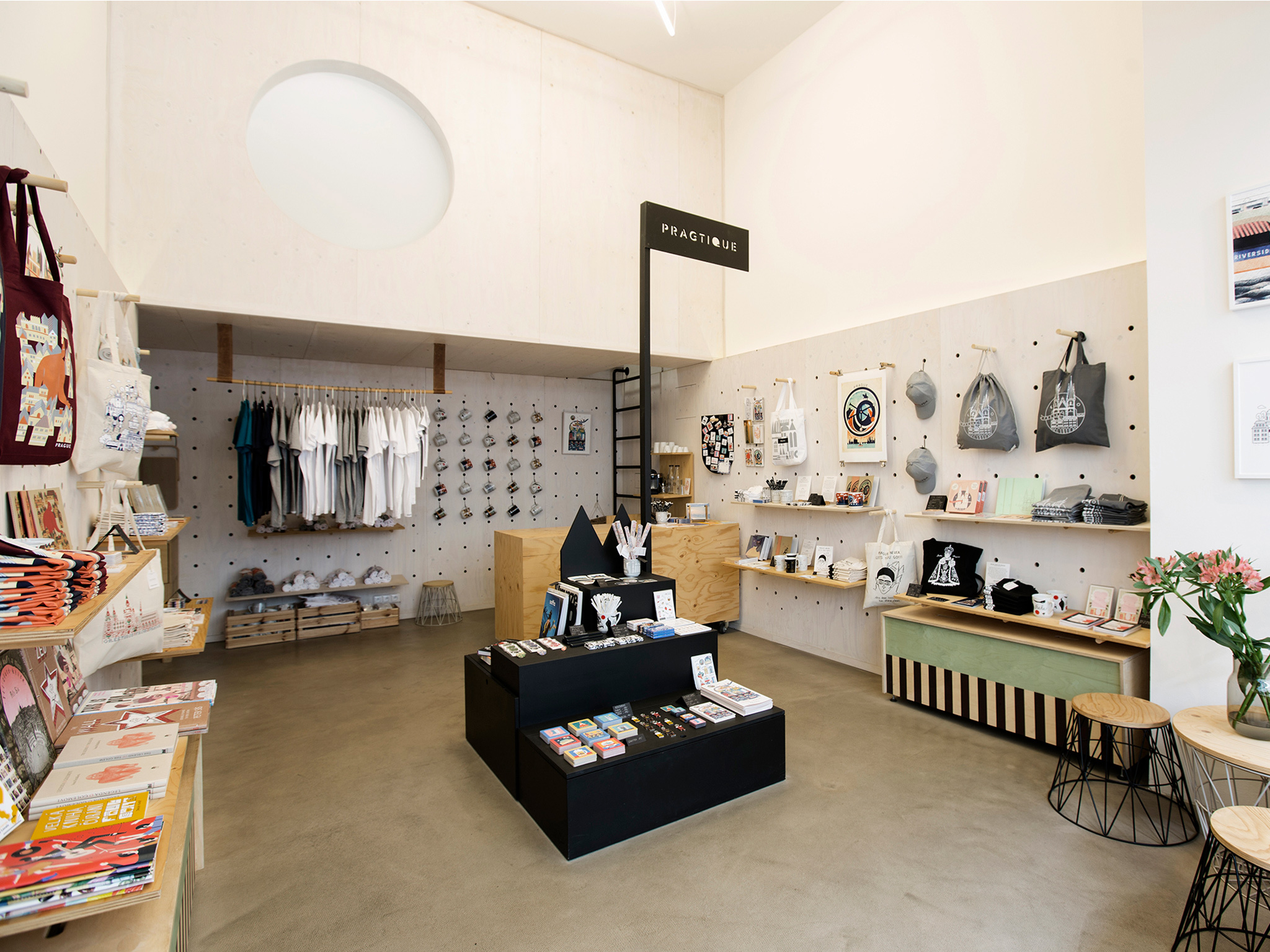 The interior of Pragtique shop in Prague