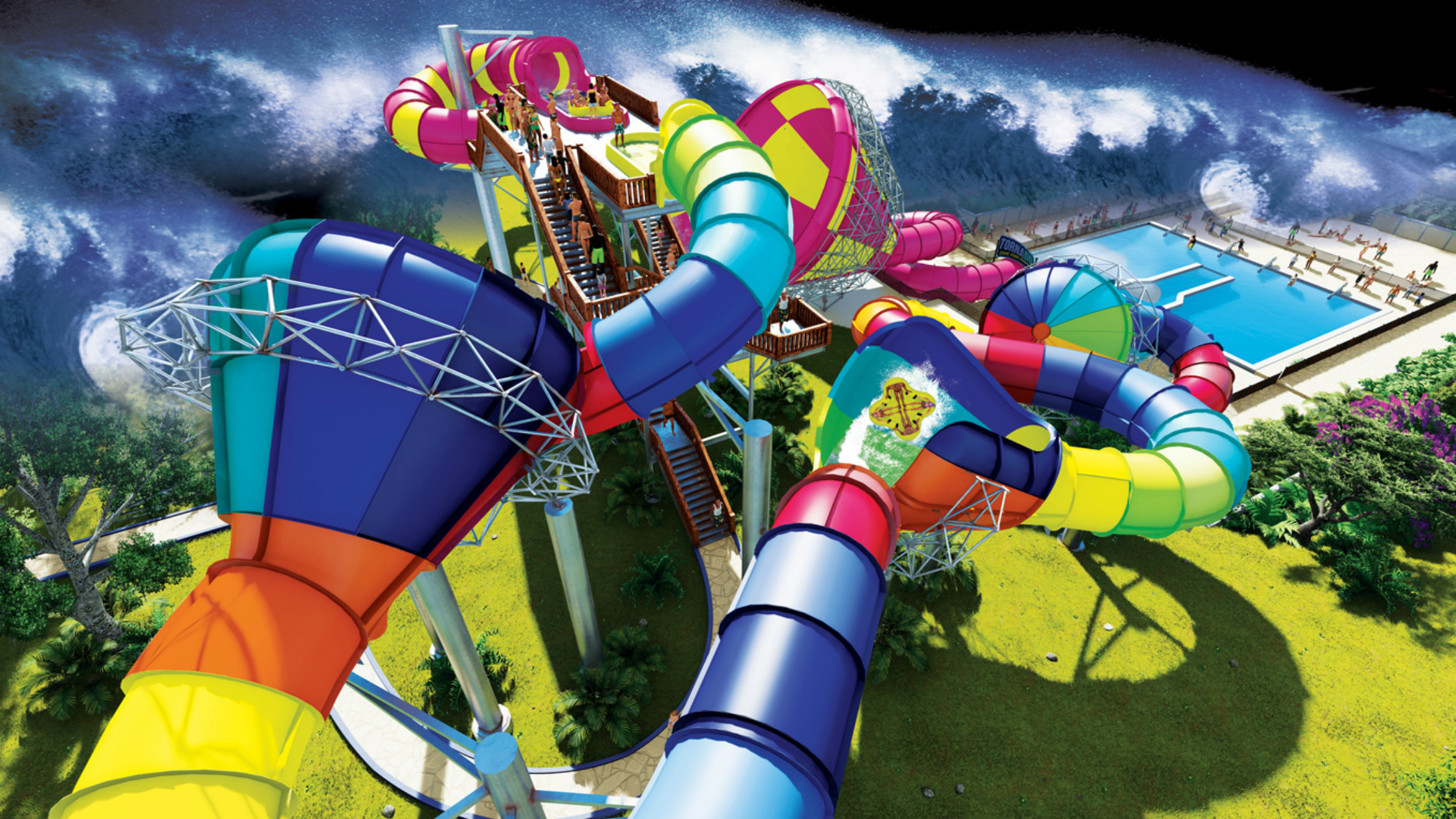 Adventure Park's new $4 million waterslide is only one of two in Australia