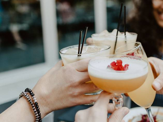 Generic cocktail cheers shot
