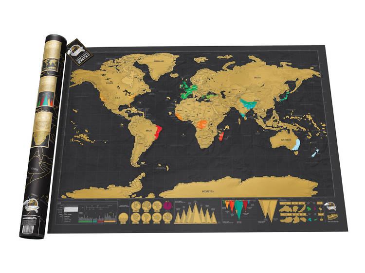 Mapa-mundo para raspar