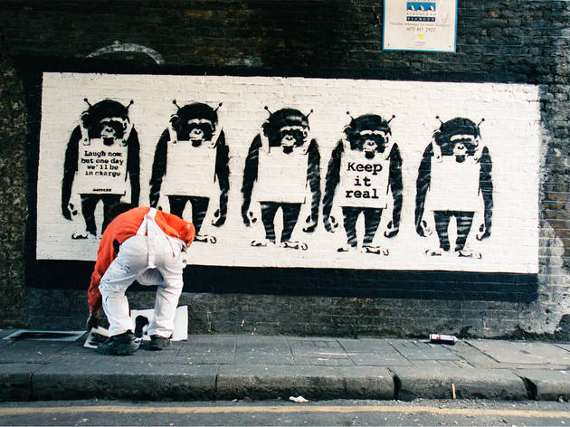 Do these pictures really show Banksy at work?