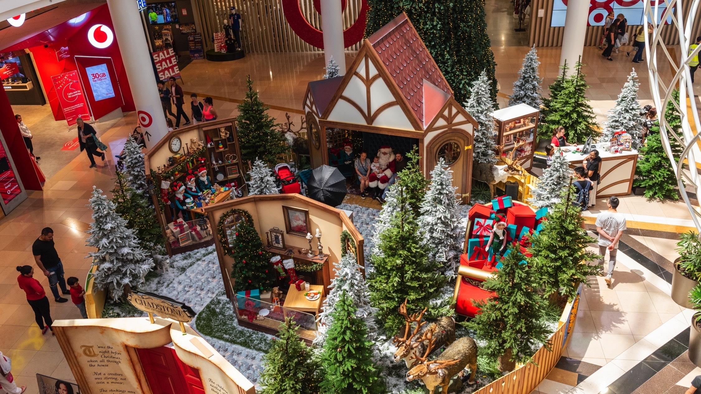 Santa set at Chadstone
