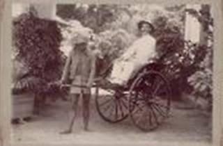 1905 Portrait of rickshaw puller
