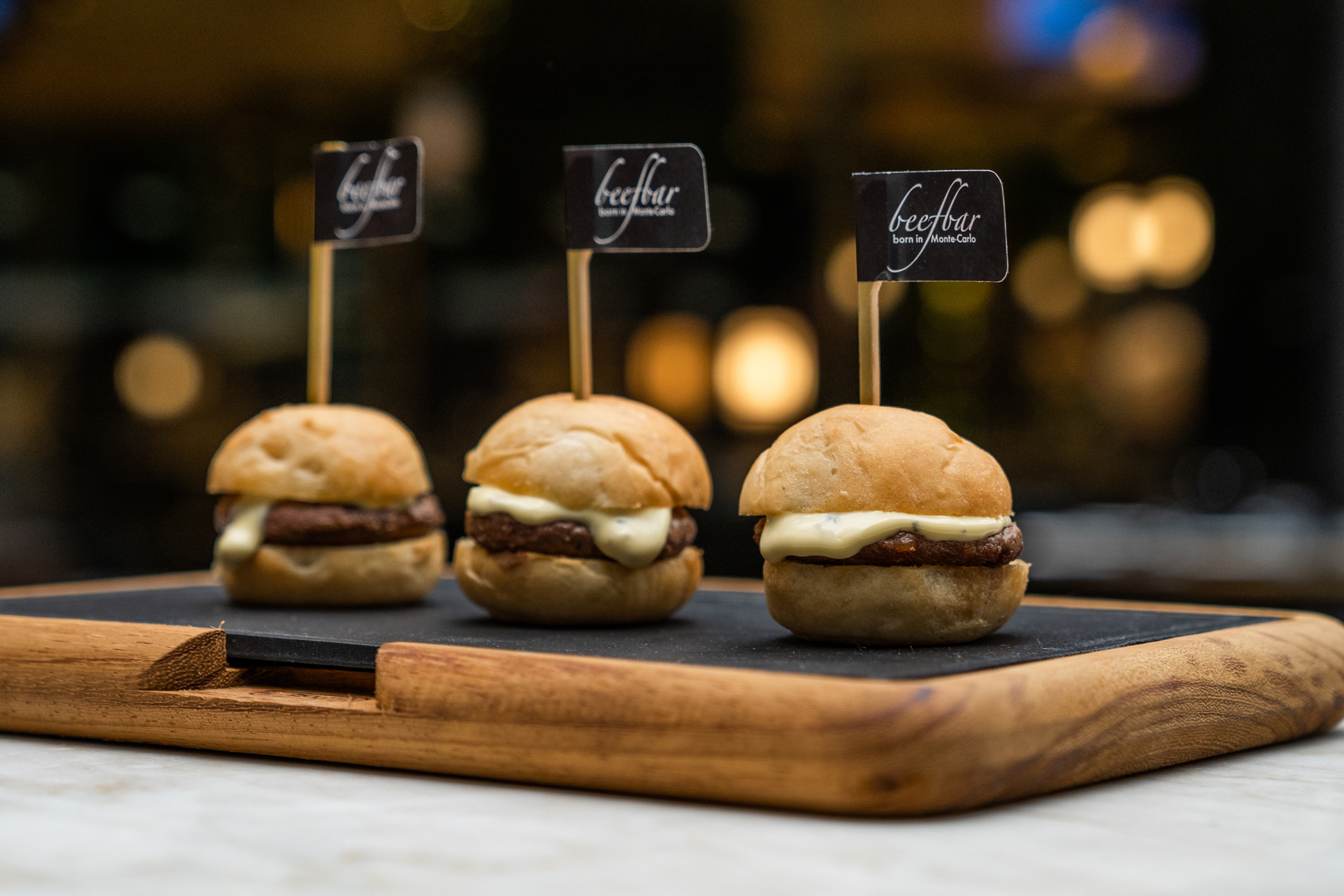 Beefbar mini burgers