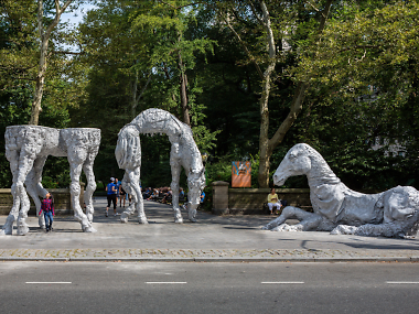 Best Outdoor Art in NYC this fall and winter including sculptures