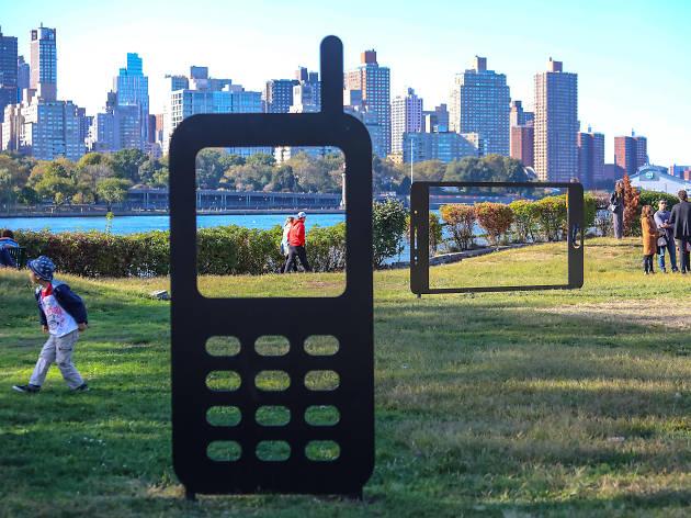 Paul Kopkau, Yard Shadow: Nokia & Yard Shadow: Samsung, both 2019