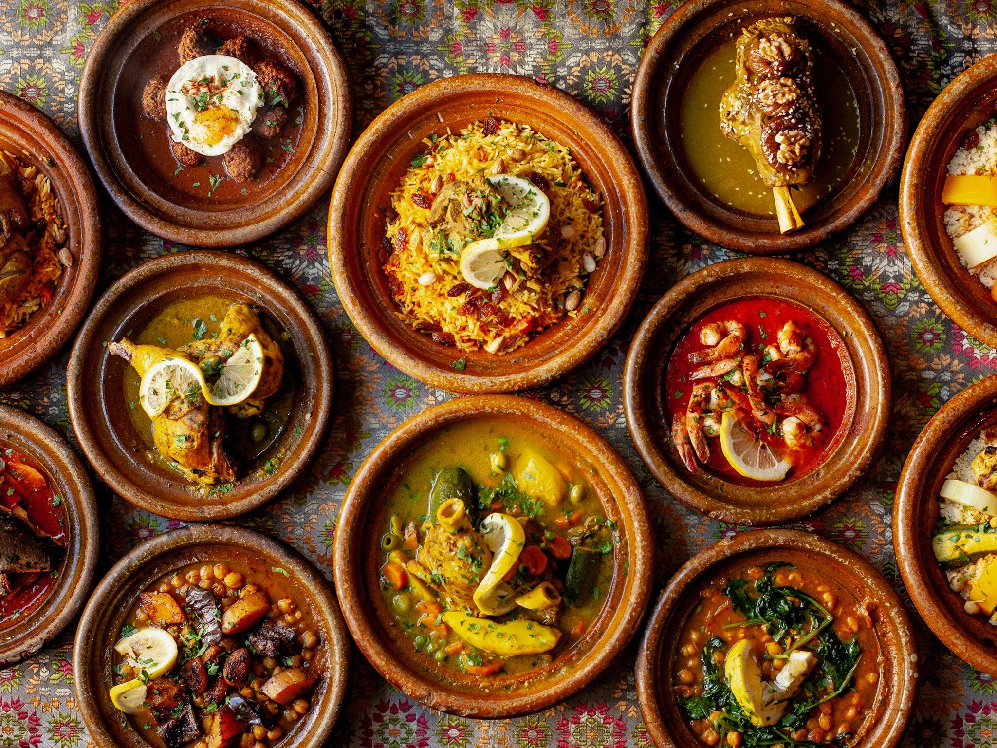 A selection of dishes at Kasbah restaurant in Liverpool