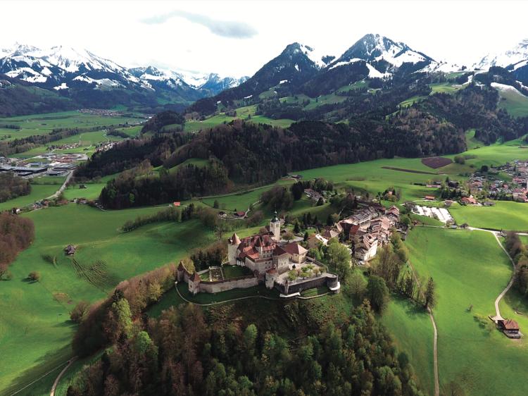 Gruyères (Suiza): Stendhal verde