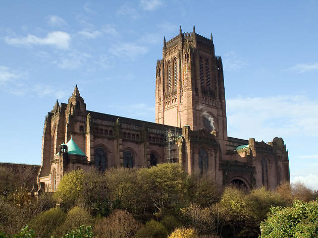 The exterior of Liverpool Cathedral