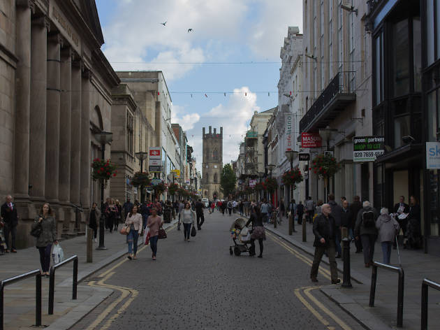 Bold Street shopping district in Liverpool