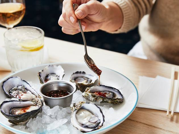 For the rest of this month you can slurp down $1 oysters at the Opera Bar