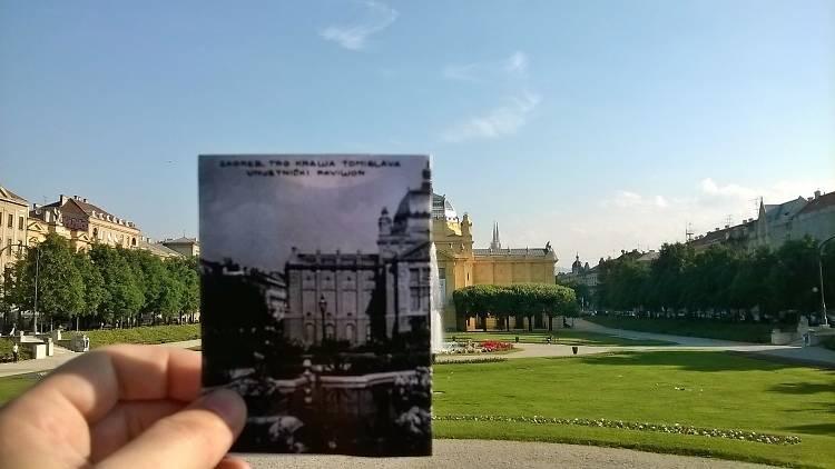 Art Pavillion at the Tomislav square