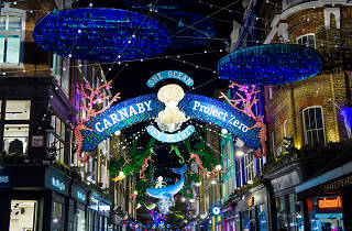 Carnaby Street sustainable Christmas lights 2019