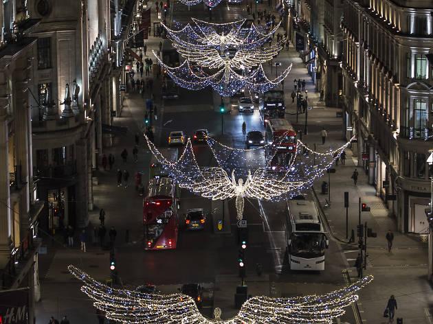 Regent Street Christmas Lights Switch On