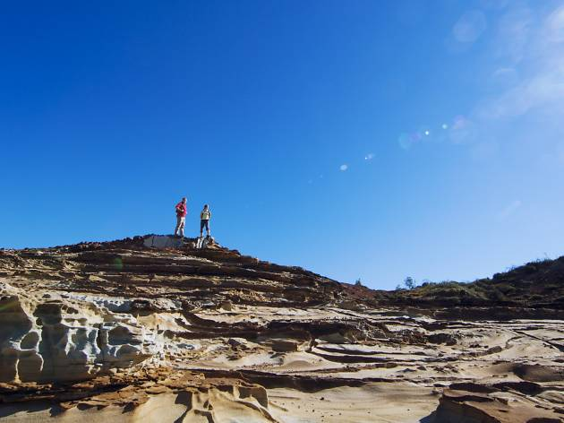 A view of the rock formations on the Bouddi Coastal Walk