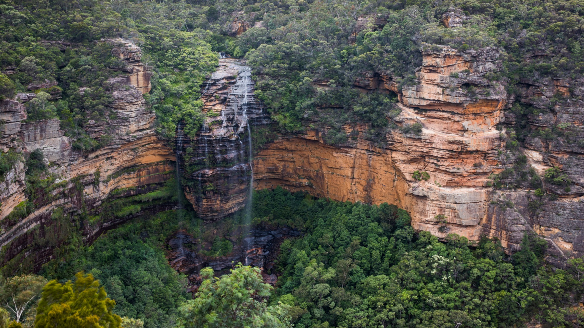 An ariel shot of Wentworth Falls