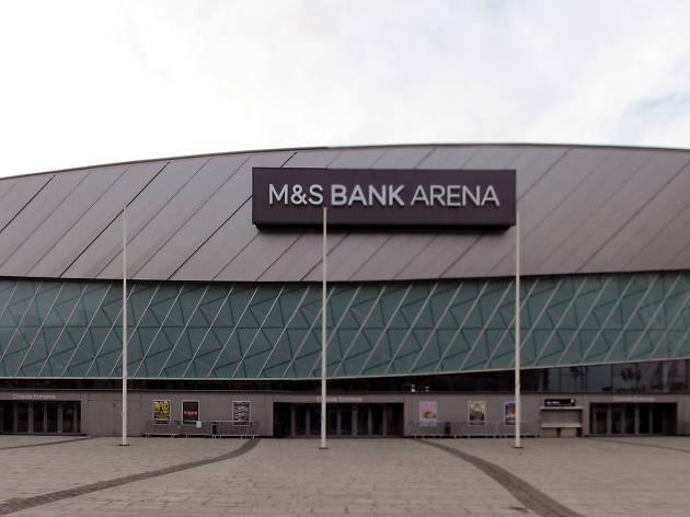 The exterior of the rebranded M&S Bank Arena in Liverpool