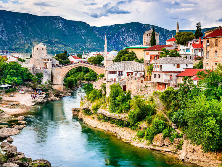 Mostar (Bosnia i Herzegovina): Heridas de guerra