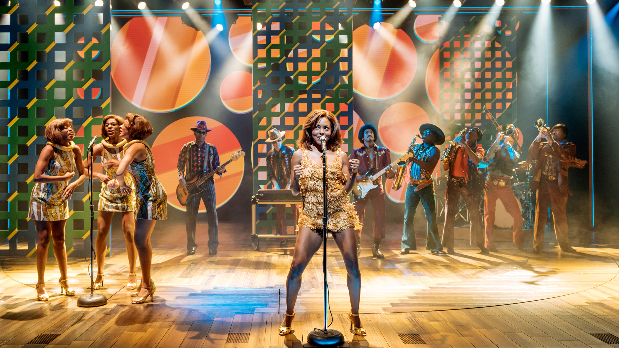 Adrienne Warren as Tina Turner in Tina—The Tina Turner Musical
