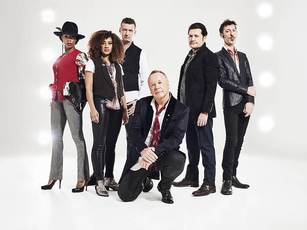Simple Minds press shot of the full band.