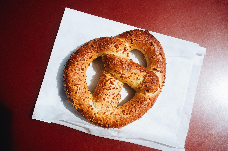 Disneyland best food stuffed pretzel