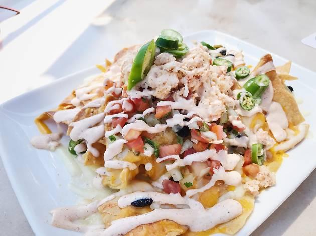 Best Disneyland food lobster nachos Pixar Pier Lamplight Lounge