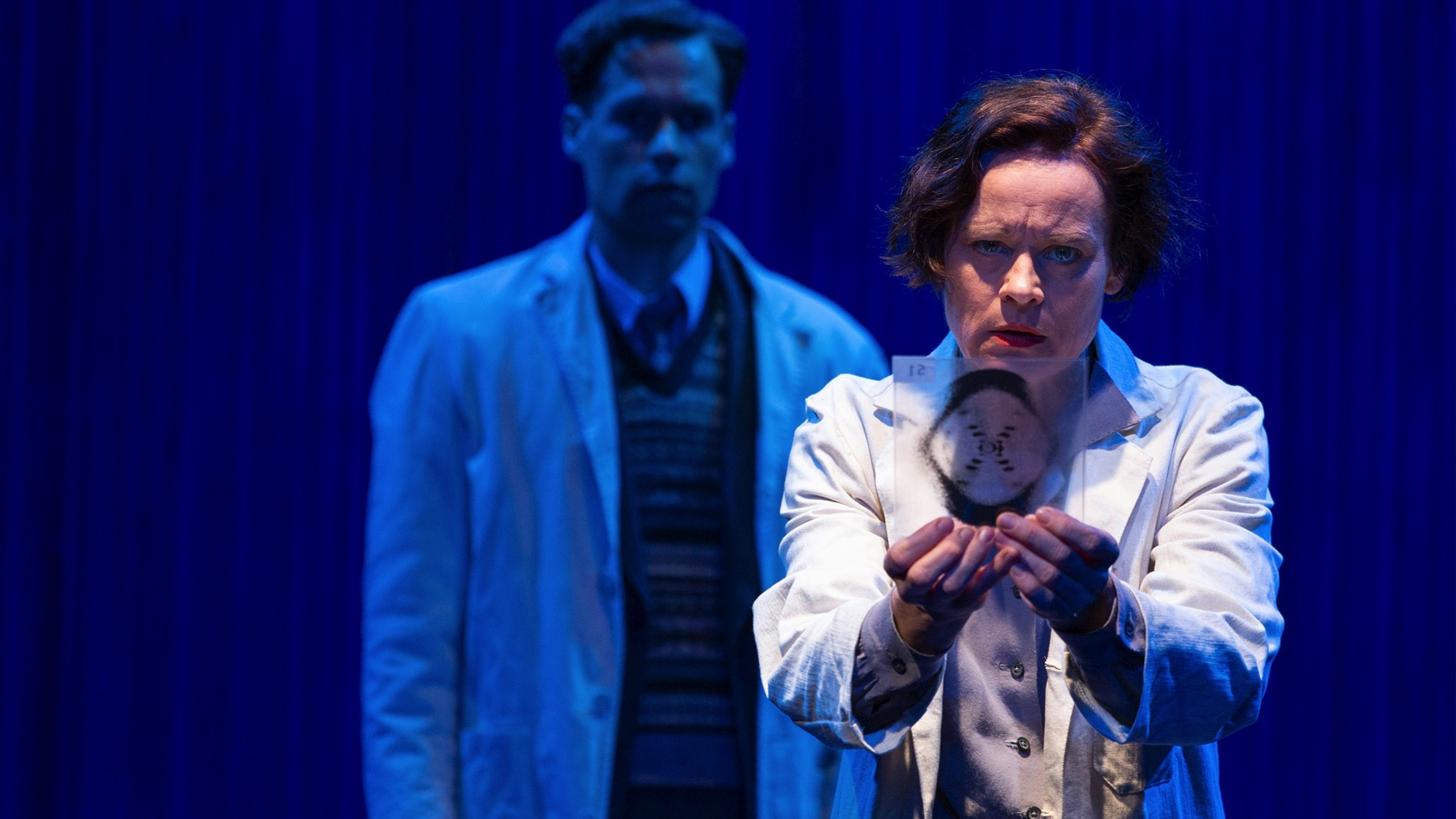 Actors on stage in production of Melbourne Theatre Company's Pho