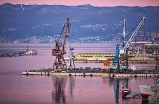 Rijeka's harbour