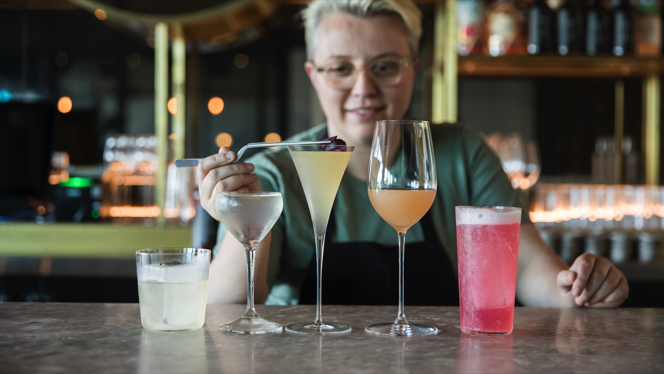 Making cocktails at Isabel Bar Bondi