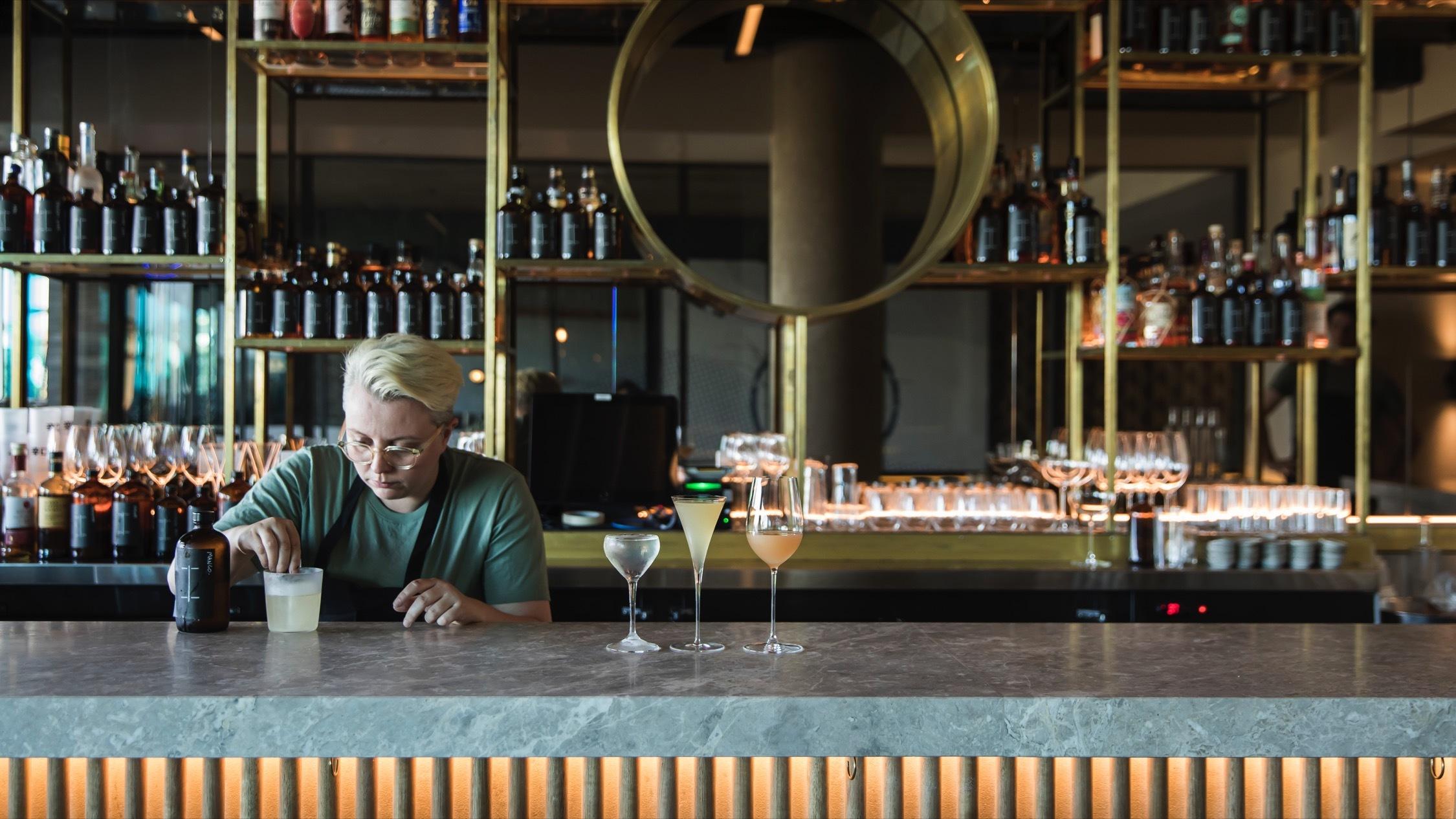 Making cocktails at Isabel Bar Bondi