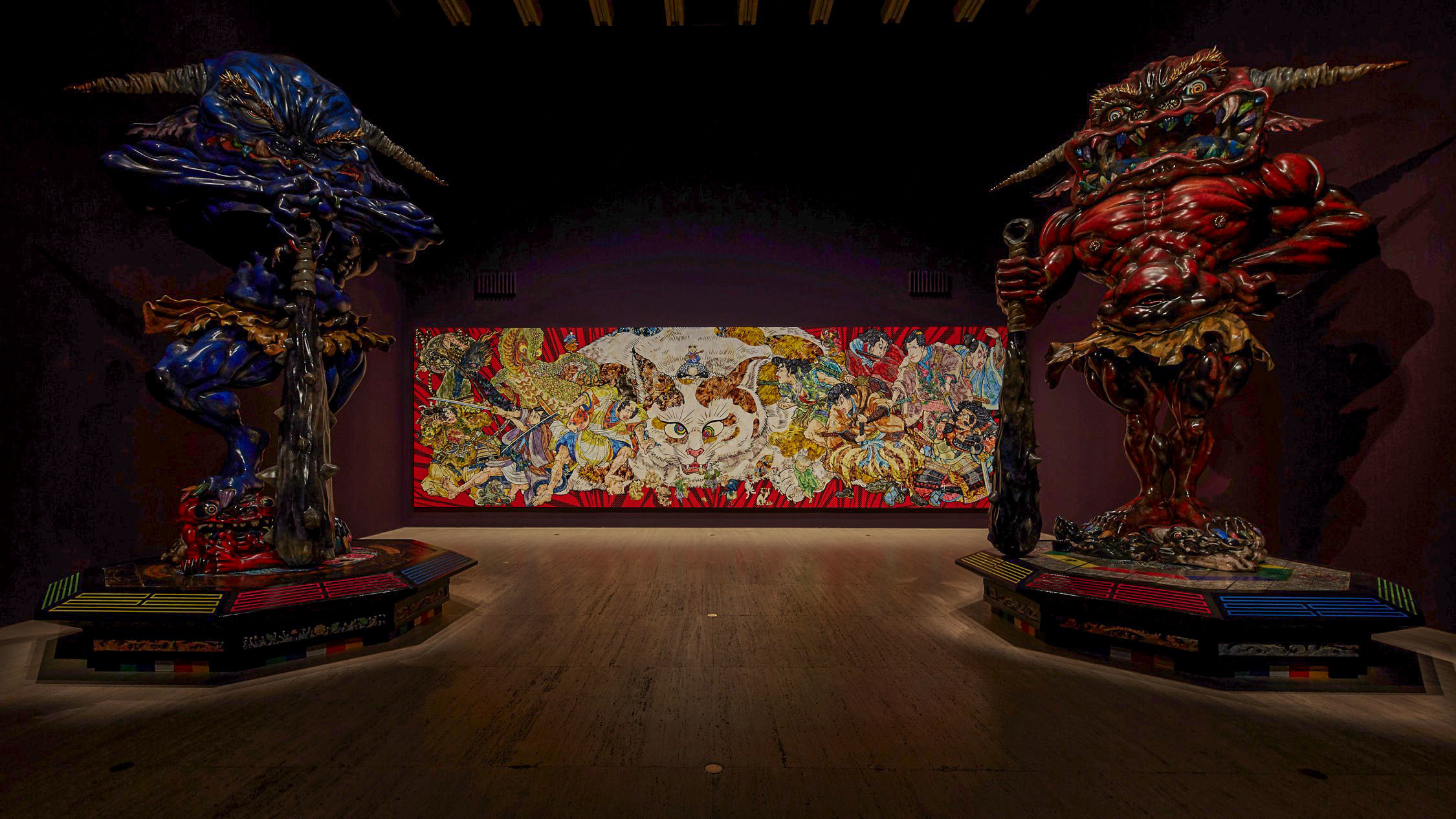Inside exhibition at Japan Supernatural at Art Gallery of NSW
