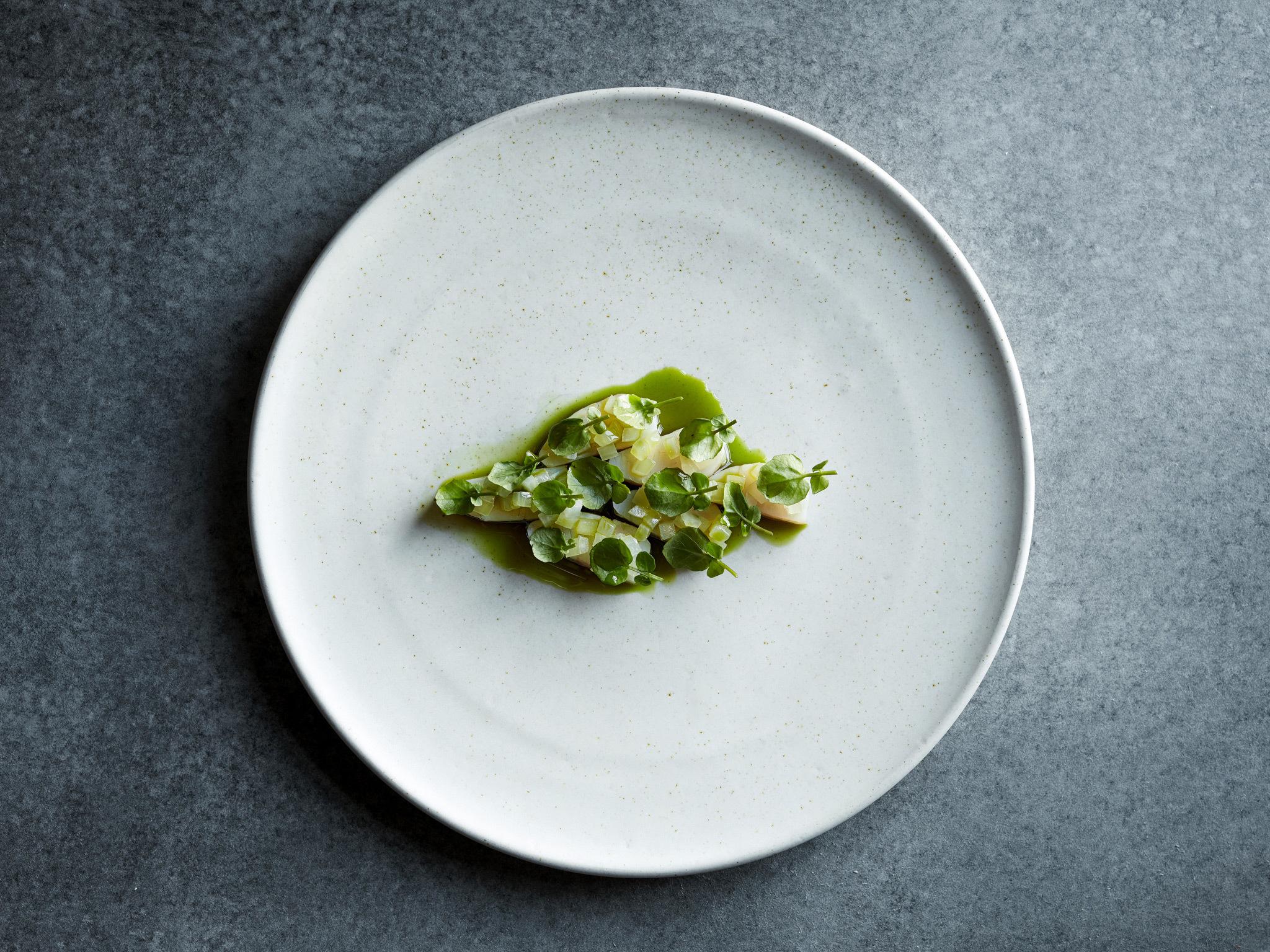 A dish at Amass restaurant in Copenhagen
