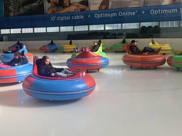 Ice bumper cars at Aviator Sports