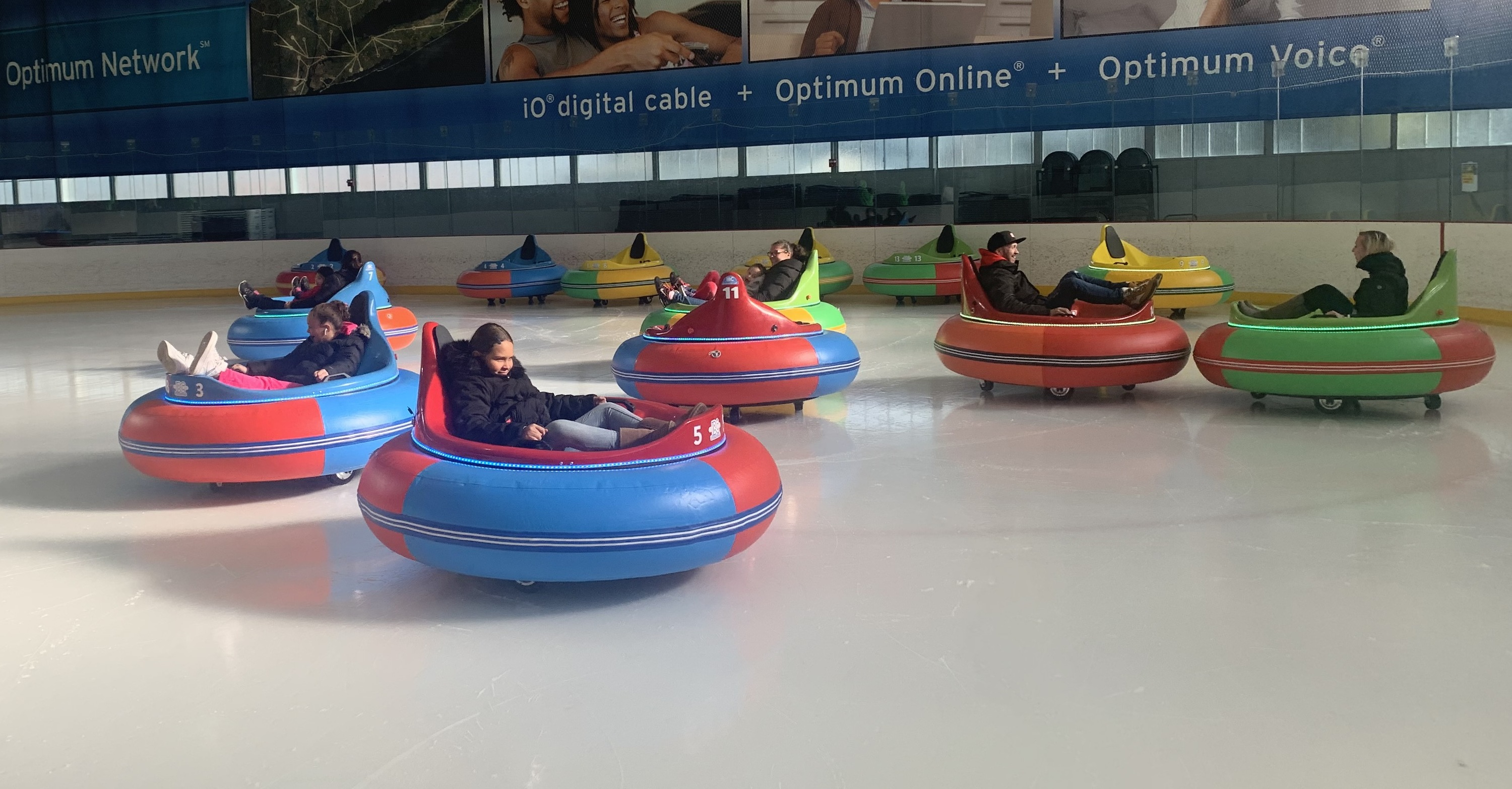 Wahoo! Ice bumper cars made their way to Brooklyn, so plan a visit to the rink