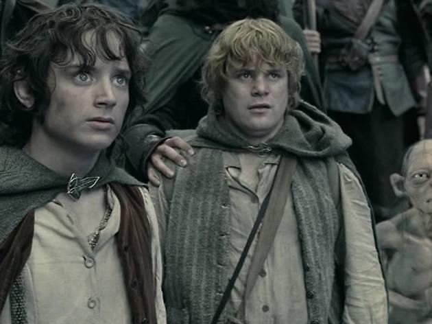 Frodo, Sam and Gollum look worried.